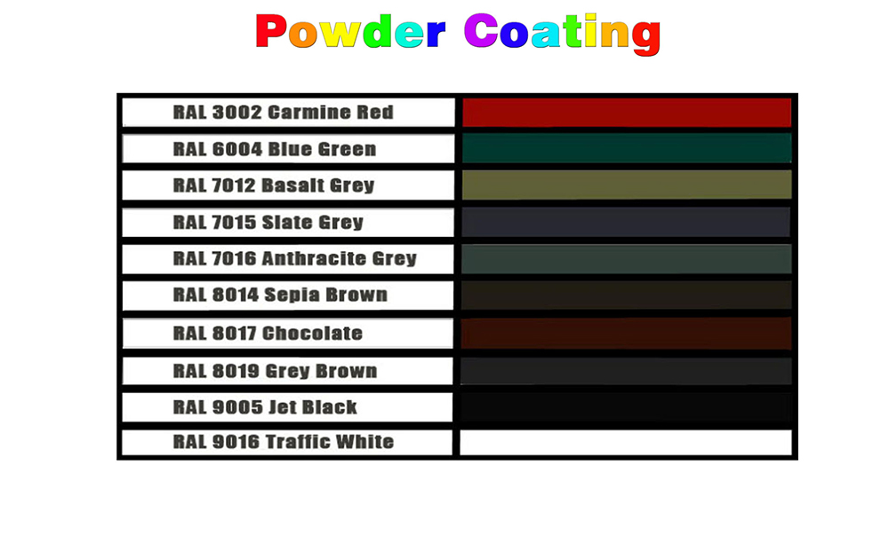 Aluminum power coating profile